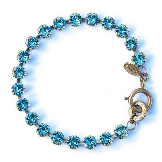Catherine Popesco Small Stone Crystal Bracelet - Aqua and Gold