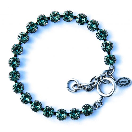 Catherine Popesco Small Stone Crystal Bracelet - Marine and Silver