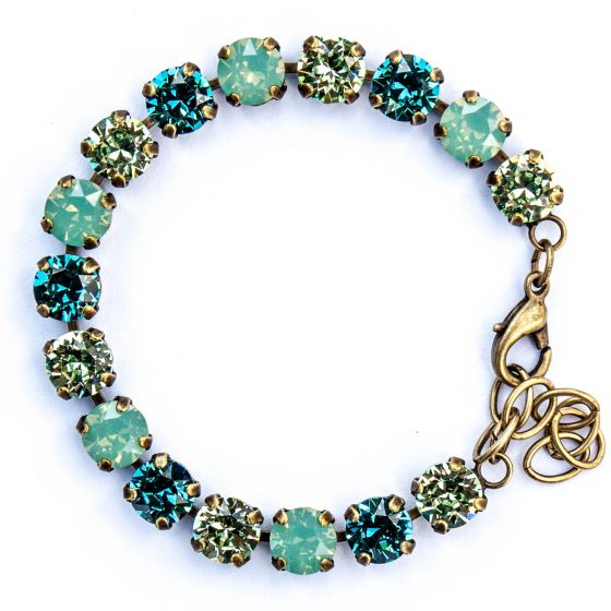 Catherine Popesco Multi Color Crystal Bracelet - Pacific Opal and Teal