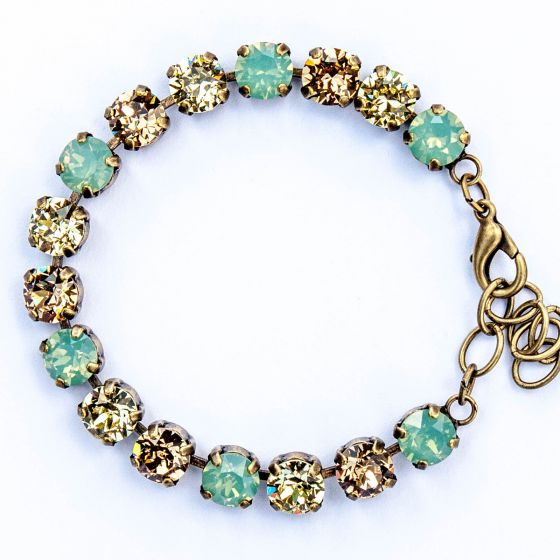Catherine Popesco Multi Color Crystal Bracelet - Pacific Opal, Jonquil and LCT