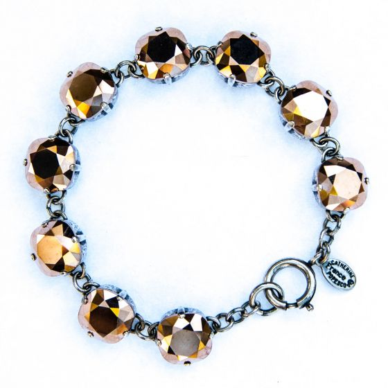 Catherine Popesco Large Stone Crystal Bracelet - Rosegold and Silver