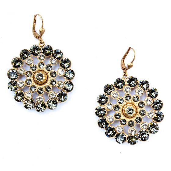 Catherine Popesco Crystal Medallion Earrings Assorted