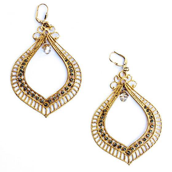 Catherine Popesco Ex-Large Black Diamond Openwork Earrings
