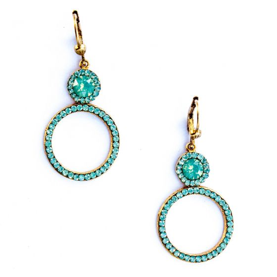 Catherine Popesco Pacific Opal Double Circle Crystal Earrings