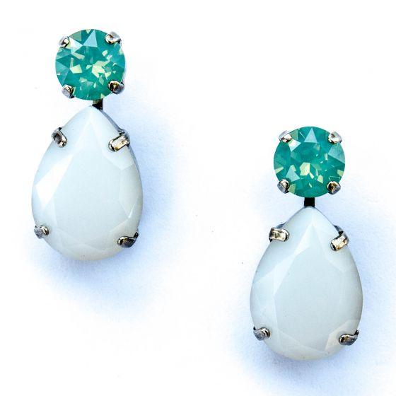 Sorrelli Aegean Sea Teardrop Accent Earring - Pacific Opal