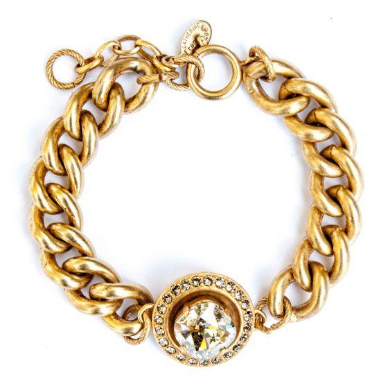 Catherine Popesco Shade Round Crystal Frame Bracelet