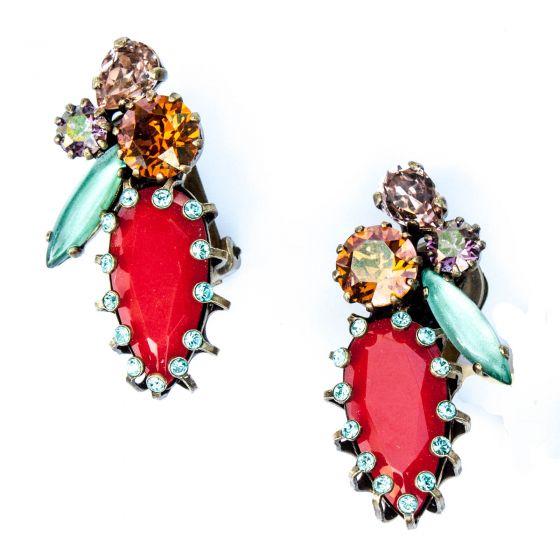 Konplott Jewelry by Miranda Konstantinidou La Maitresse Clip Earrings