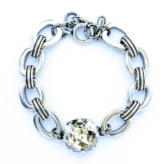 Catherine Popesco Jumbo Shade and Thick Chain Bracelet in Silver