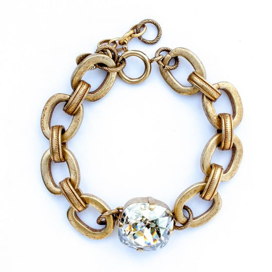 Catherine Popesco Jumbo Shade and Thick Chain Bracelet in Gold