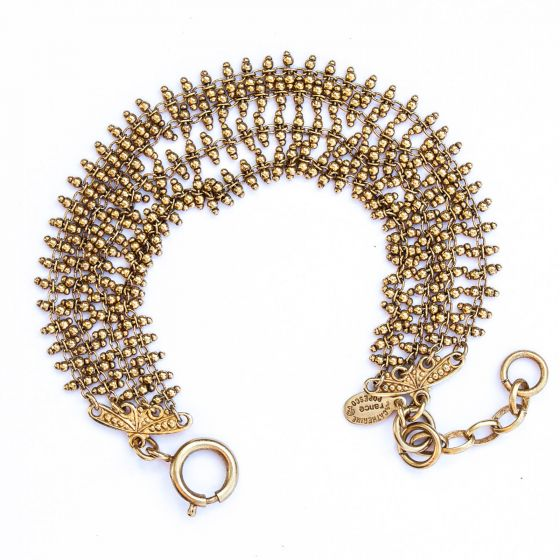 Catherine Popesco Multi Ladder Chain Gold Bracelet