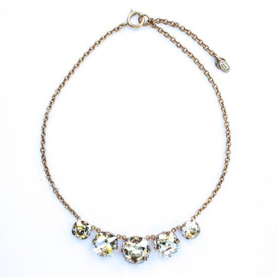 Catherine Popesco Five Stone Necklace - Shade in Gold