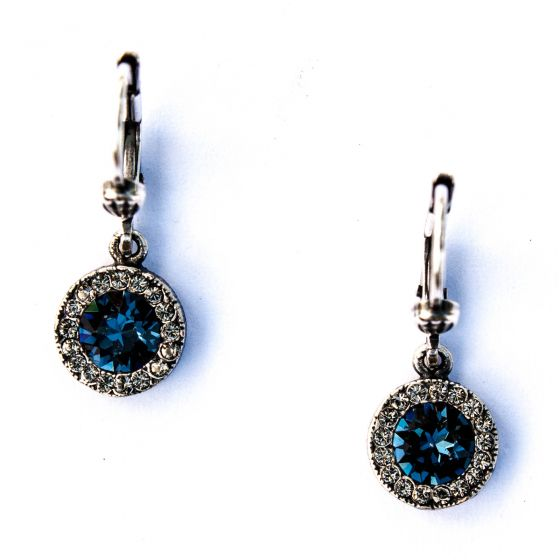 Catherine Popesco Petite Round Rhinestone Dangle Earrings - Assorted Colors
