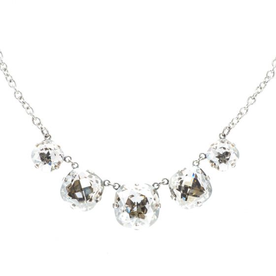 Catherine Popesco Five Stone Necklace - Shade in Silver
