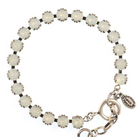 Catherine Popesco Small Stone Crystal Bracelet - White Opal and Silver