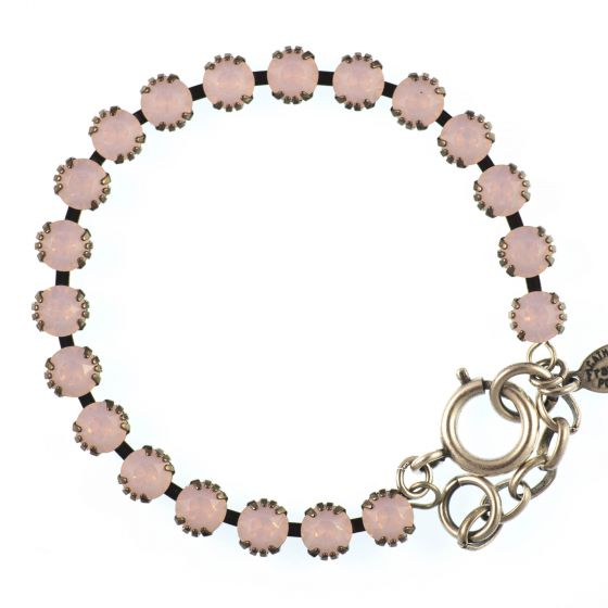Catherine Popesco Small Stone Crystal Bracelet - Rosewater Pink and Silver