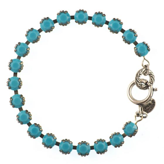 Catherine Popesco Small Stone Crystal Bracelet - Turquoise and Silver