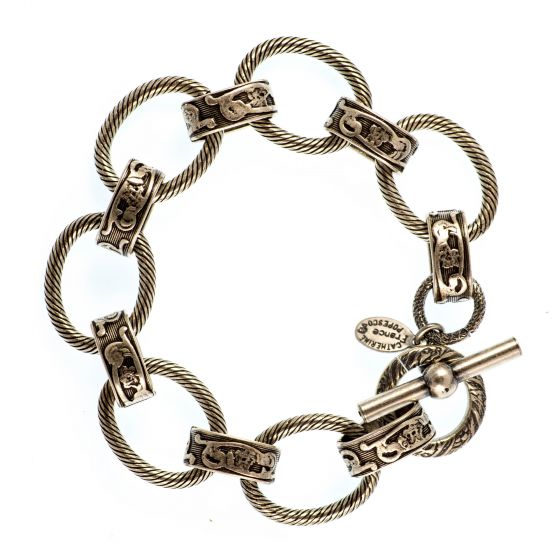 Catherine Popesco Thick Silver Large Loop Bracelet