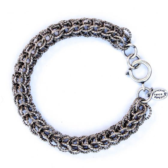 Catherine Popesco Antiqued Silver Rope Chain Bracelet
