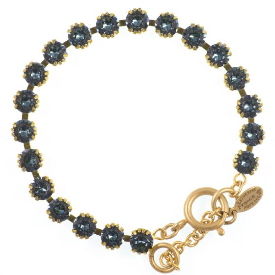Catherine Popesco Small Stone Crystal Bracelet - Midnight Blue and Gold
