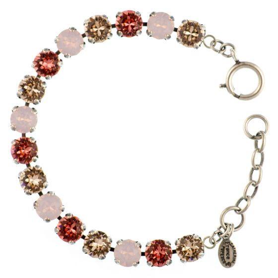 Catherine Popesco Multi Color Crystal Bracelet - Rosewater Pink in Silver