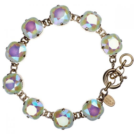 Catherine Popesco Large Stone Crystal Bracelet - Powder Blue and Gold