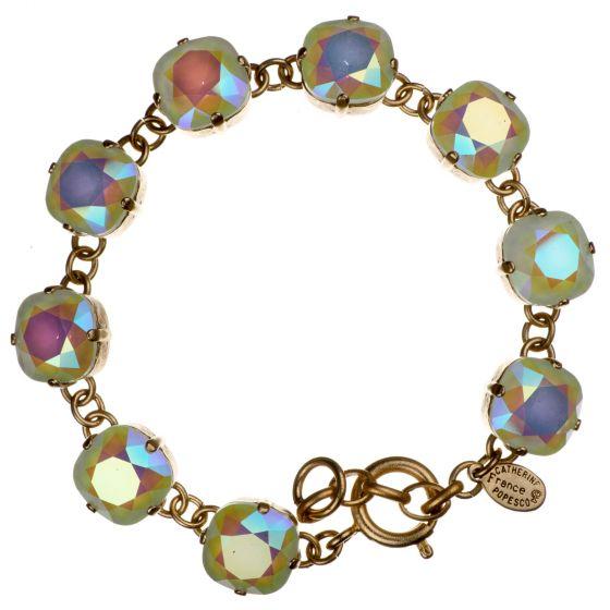 Catherine Popesco Large Stone Crystal Bracelet - Frozen Mint and Gold