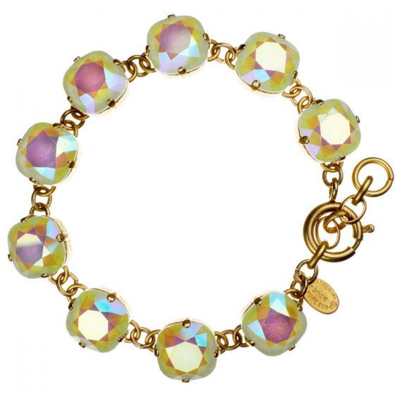 Catherine Popesco Large Stone Crystal Bracelet - Lemonade and Gold