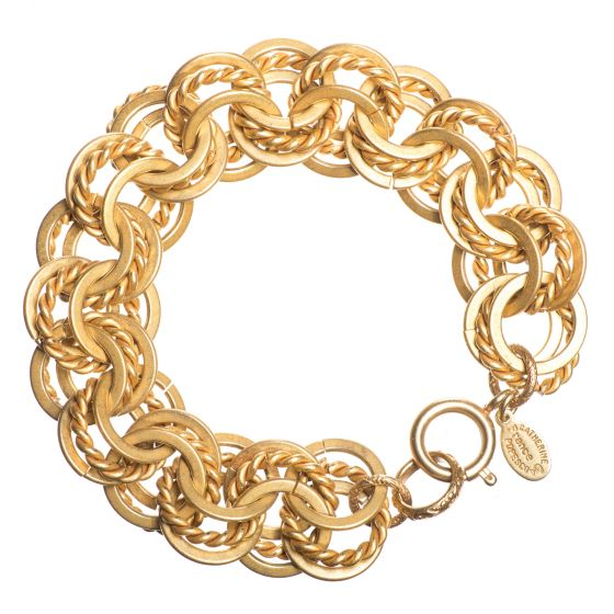 Catherine Popesco Gold Heavy Round Link Bracelet