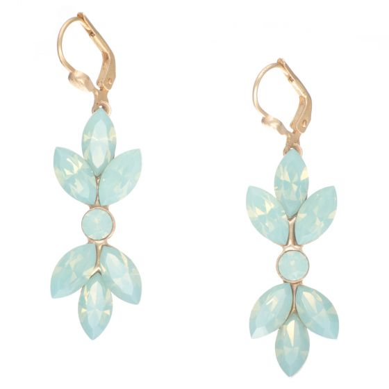 Catherine Popesco Pacific Opal Marquise Crystal Earrings in Gold