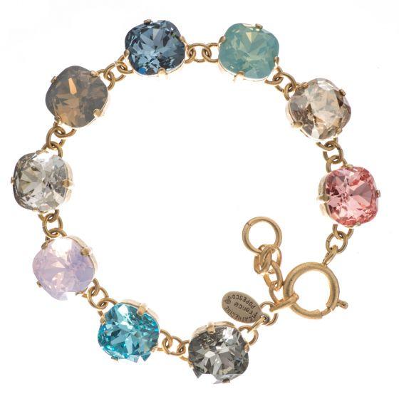 Catherine Popesco Large Stone Crystal Bracelet  - Multi Color Combo