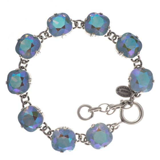 Catherine Popesco Large Stone Crystal Bracelet - Glacier and Silver