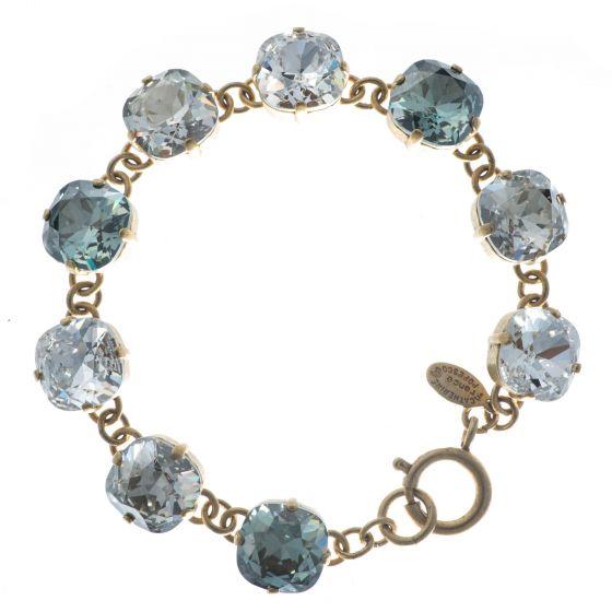 Catherine Popesco Large Stone Crystal Bracelet - Sparkle Combo