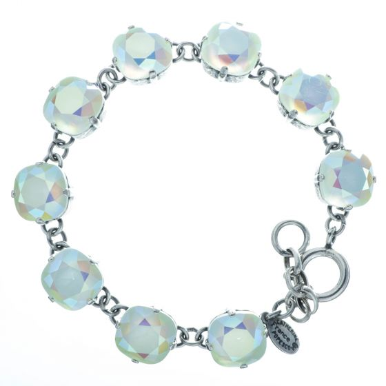 Catherine Popesco Large Stone Crystal Bracelet - Frozen Mint and Silver