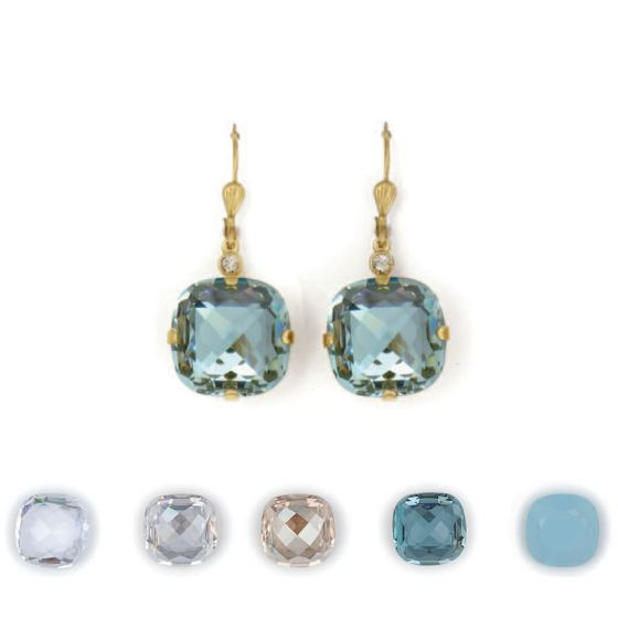 Catherine Popesco 16mm Ex-Large Stone Crystal Earrings - Assorted Colors