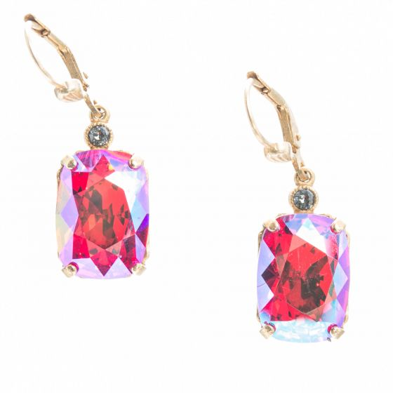 Catherine Popesco Pillow Cut Crystal Earrings - Assorted Colors