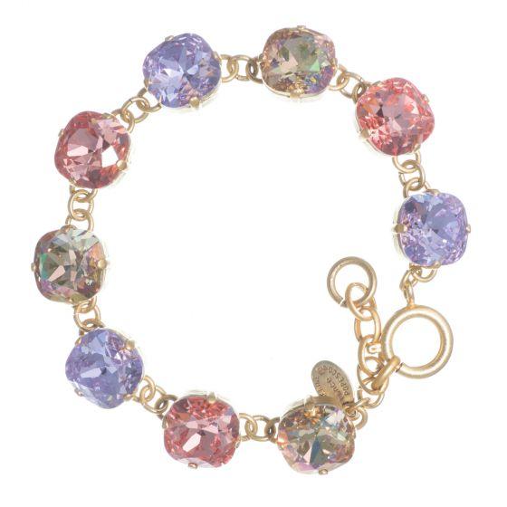 Catherine Popesco Large Stone Crystal Bracelet  - New Violet Combo