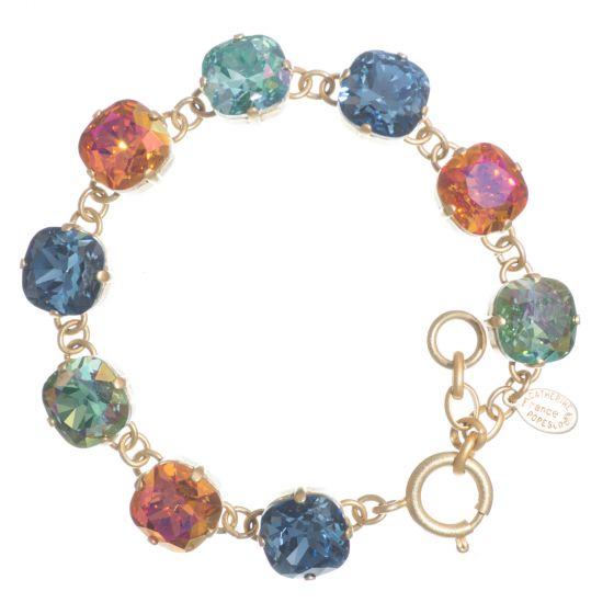 Catherine Popesco Large Stone Crystal Bracelet  - Vibrant Combo