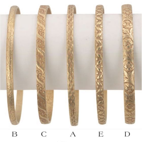 Catherine Popesco 14K Gold Plated Stamped Bangles - Five Designs