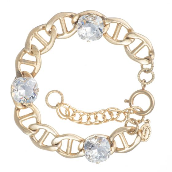 Catherine Popesco Bit Chain Crystal Bracelet - Assorted Colors in Gold