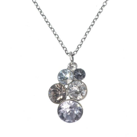 Konplott by Miranda Ko - Petit Glamour Pendant Necklace - Grey Combo
