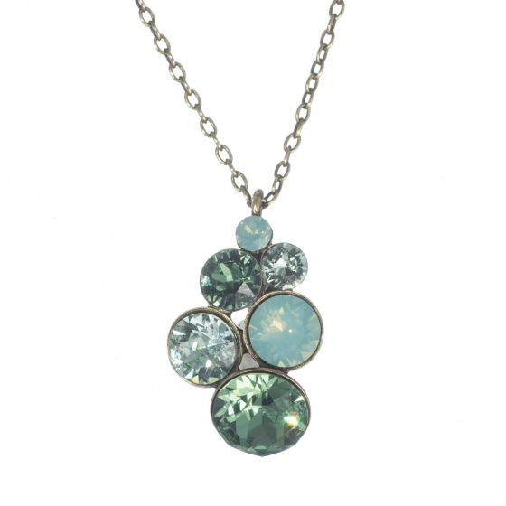 Konplott by Miranda Ko - Petit Glamour Pendant Necklace - Green Combo