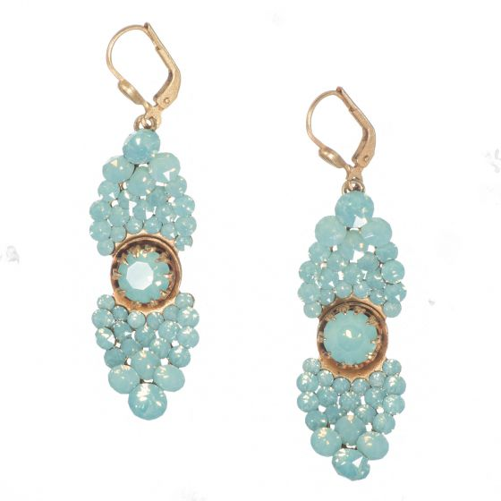 Catherine Popesco Crystal Cluster Earrings - Pacific Opal or Black Diamond
