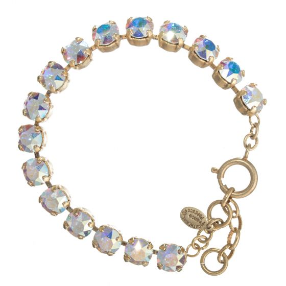 Catherine Popesco Crystal Tennis Bracelet - Assorted Colors in Gold or Silver