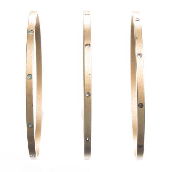 Catherine Popesco Rhinestone Bangle Crystal Bracelet