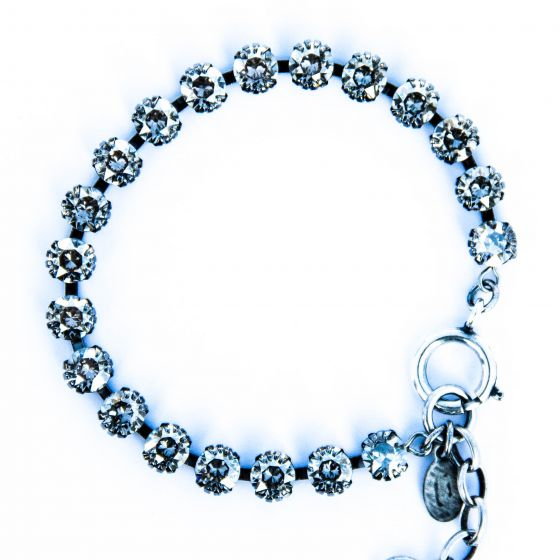 Catherine Popesco Small Stone Crystal Bracelet - Shade and Silver