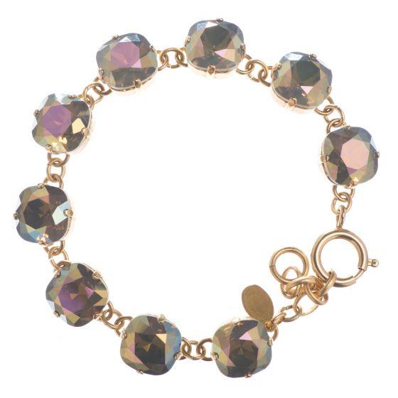 New! Catherine Popesco Large Stone Crystal Bracelet - Sand Opal