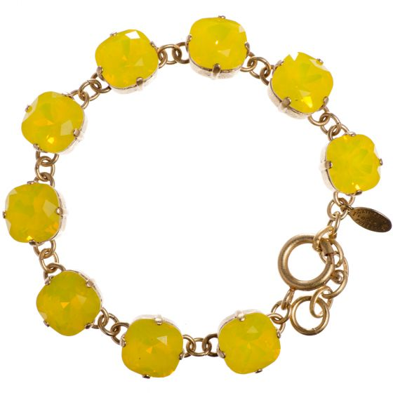 Catherine Popesco Large Stone Crystal Bracelet - Canary Yellow