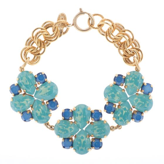 50% Off Catherine Popesco Quatrefoil Pacific Opal and Star Crystal Bracelet