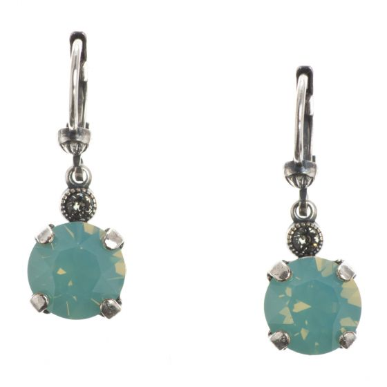 Catherine Popesco Pacific Opal 8mm Round Small Stone Dangle Earrings