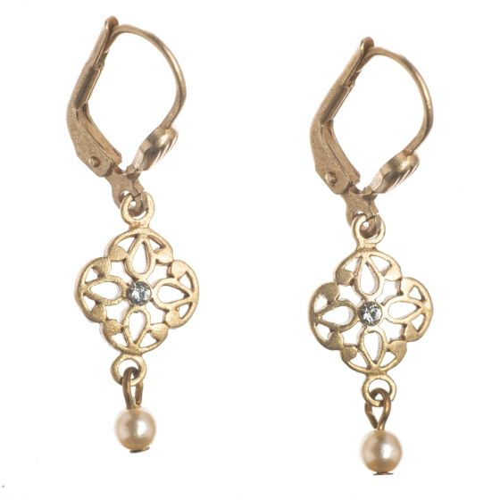 Catherine Popesco Pearl Drop Earrings - Delicate Dangles
